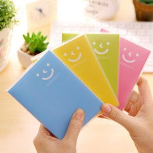 مصغرة المفكرة المحمولة دفتر الحلوى مبتسم الوجه المفكرة غطاء الصلب الإبداعية الاتجاه مكتبة كتاب مدرسة اللوازم المكتبية FWC4102