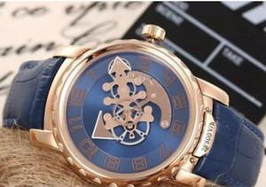 새로운 망 시계 공장 공급 업체 시계 괴물 48mm 자동 2050-131 / 03 020-81 2086-115 망 시계 블루 다이얼 로즈 골드 tourbil 손목 시계
