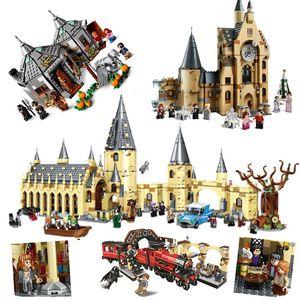 2020 Neue Zaubertiere Schloss Harrid Bausteine Ziegel Potter Cartoon Action Figure Spielzeug Spiel Modell Anime Geschenk für Kinder C1118
