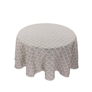Linen Printing Tablecloth Round Table Cloth 1 Pcs Table Cover Nordic Polyester Cotton Home Kitchen Decoration 150cm jllwXu
