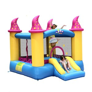 Inflatable Castle Indoor Small Children's Inflatable Castle Home Play House Playground Indoor Toy Trampoline for Kids Outdoor Fun in Garden