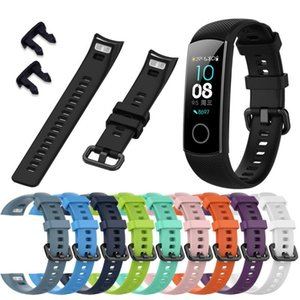 1pcs TPU Smart Watch Replacement Sport For Huawei Honor Band 5 Strap Watchband Wristband Bracelet 10 Colors Straps