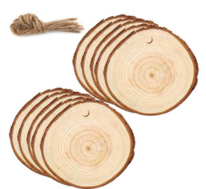 Wood Circles Christmas Ornaments DIY Natural Round Wooden Shapes Craft Wood Blank Pieces lmonogram wood disc keychain SEA SHIPPING DHC4774