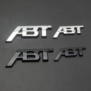 Chrom Silber glänzend schwarz ABT 3D Klebstoff Rückseite Körper Auto Badge Emblem Aufkleber Logo für Audi VW