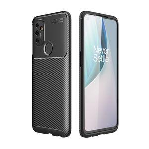 Slim Carbon Fiber Design TPU мягкий задний чехол для OnePlus NORD N100 N10 8T One Plus 8 Pro 7T Pro 7 6T 6