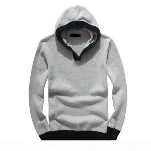 S909 New Autumn Winter Casual Mens Designer Sweater Brand Men's Knitwear Logo Embroidery Zipper Sweater Warm High Quality Hoodie Sweate