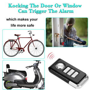 113dB Wireless Remote Control Alarm Bicycle Electric tricycle  New Energy Car Vibration&Displacemnt Alarm Safety Lock+Lock rope