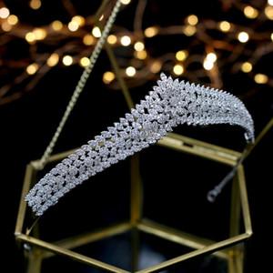Asnora Hermosa Cristales Princesa Tiara Nupcial Nupcial Tiaras Accesorios para el cabello Coroa de Noiva Q1124