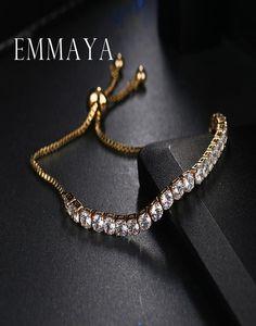 Emmaya Classic Bling Crystal Beads Friendship Bracelet White Zircon Adjustable Bracelets For Women Beaded Cheap Bracelet sqcOUc