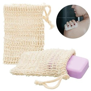 Soap Bag Exfoliating Cleansers Natural Zero waste Portable Soap Saver Net Mesh Bag Soft Foaming Massage Bag for Bathroom BWF3303