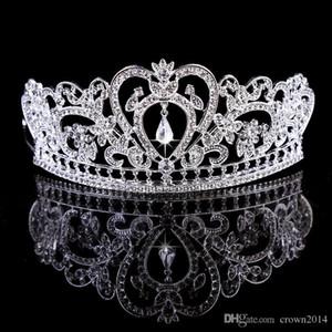 Bling Beaded Crystals Wedding Crowns Bridal Diamond Jewelry Rhinestone Headband Hair Crown Accessories Party Tiara Cheap Free Shipping 546