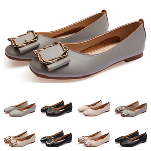 ladies flat shoe lager size 33-43 womens girl leather Nude black grey New arrivel Working wedding Party Dress shoes one