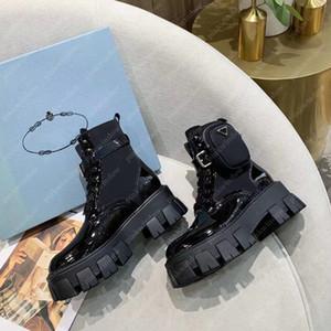 Стильные женщины Martin Boots Monolith нейлоновые ботинки лодыжки зима роскоши дизайнеры обувь почесывают rois кожаные габардиные пинетки 20122501л