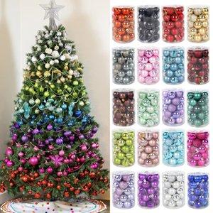 34pcs balls tree decor hanging ornament decorations for home xmas navidad Christmas 2020 gift ball Y1126