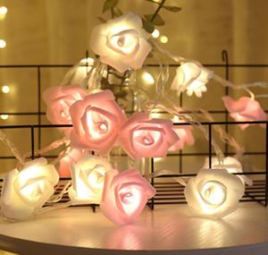 Последние 6M 40 огней USB с дистанционным управлением 8 режимами для выбора, светодиодные розовые фонарика моделирования цветок пульт дистанционного управления