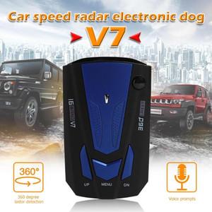Car Vehicle V7 Control Speed Voice Alert Alarm Warning 16 Band LED Display English Russian Auto