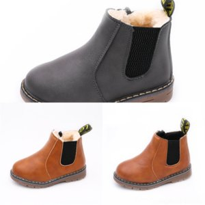 3817 Leather designer Lace-up Back Mid-leg Boots Children's Large Boots Black children's snow bootSnow Boots Straight Women's Size trend com