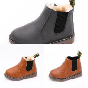 3817 Leather designer Lace-up Back Mid-leg Boots Children's Large Boots Black children's snow bootSnow Boots Straight Women's Size trend com
