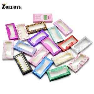 Eyelash Packaging Box Wholesale 10Pairs 3d Mink Lashes Cases Vendor False Eyelashes Bulk Luxury 25mm Lash Boxes Packaging