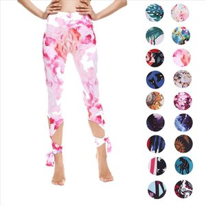 Ladies Fashion Slim Breathable Sweat Absorbing Running Sports Leggings Printing Multicolor Yo ga Pants Hot Sports Bandage Pants