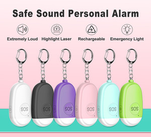 Hot Sale Personal Sound Safety Alarm Defense Alarm Rechargeable Flashlight Security Alarm System with Outdoor Distress Signal Light