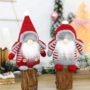 Christmas Faceless Doll Nordic Forest Santa Window Decorations Merry Christmas Gifts Navidad Happy New Year Ornament BWD3172