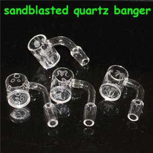 Quartz Terp Slurper Banger Prego com Artwork Arte de areia de quartzo Banger Heady Nails Domeless Quartz Terp Vácuo Bangers