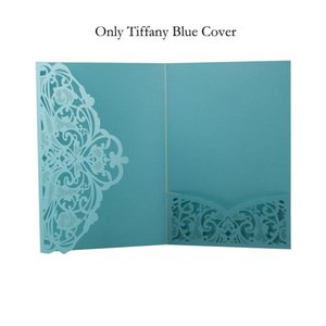 1pcs Blue White Elegant Laser Cut Wedding Invitation Cards Greeting Card Customize Business With Rsvp Cards Decor Party Supplies wmtjME