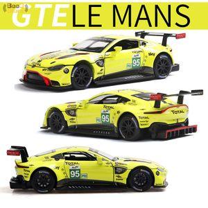 1:32 Alloy Vehicles Car Model Aston & Martin Vantage GTE Le Mans Diecast Metal Toy Model Pull back Sound Light Racing Car LJ200930