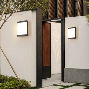 18w waterproof plastic outdoor led indoor wall lighting balcony led energy saving wall lamp warm white   white outdoor garden light