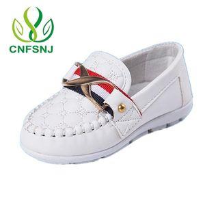 CNFSNJ Metal Soft Cow Muscle Soles PU Cuero Chaussure Enfant Niños Sneaker Baby Boys Zapatos Moda Zapatos para niños 201128