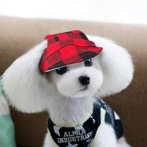 Plaid Summer Dog Hat Breathable Baseball Sun Cap Accessories Pet Outdoor Hats Caps With Ear Hole For Small Medium La bbybOY