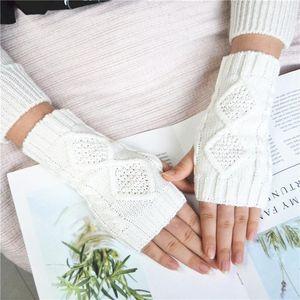 2020 Winter Gloves Stylish Hand Warmer Gloves Arm Crochet Knitting Faux Wool Mitten Warm Comfortable Fingerless Women Lady