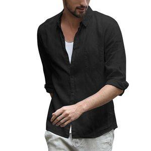 Men Shirts Casual Cotton Half Sleeved Shirt Solid Color Fashion Fit Shirts Men Turn down Collar Irregular Man Dress