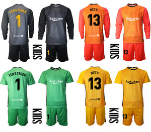 2021 Season Goalkeeper Camisa de Futbol Custom Kids Kit Uniform Sets 1 TERS TEGEN 13 NETO Football Boys Training Soccer Jersey