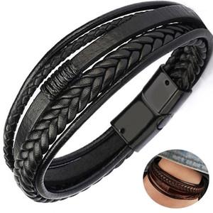 Multilayer Leather Bracelet for Men Cowhide Braided Multi-Layer Wrap Mens Bracelet1