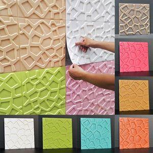 Stickers en mousse 3D Panneaux adhésifs décoratifs Maison Chambre à coucher Décor Salon Salle de bain Enfants TV Creative Creative Wallpaper
