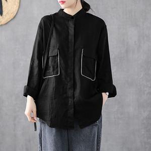 Fashion Spring Shirt ZANZEA 2020 Women's Lapel Blouse Button Down Blusas Female Long Sleeve Blusas Casual Plus Size Tunic 5XL