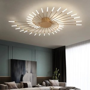 Postmodern personality style living room ceiling lamp creative fan-shaped Nordic restaurant bedroom fashion model room art ceiling lamp I441