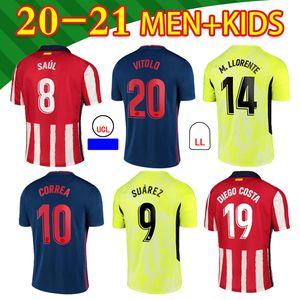16-XXL 2021 madrid # 7 joao felix camisas de futebol casa m.llorente keke saul diego costa godin homens camisa de futebol uniformes