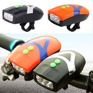 Bicycle Light Universal Front Head Cycling Lamp Electronic Bell 3 LED Bike Lights Hooter Siren Waterproof 2 In1 Ride Accessorie