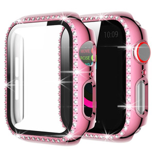 Diamond Protective Case For Apple Watch Series 6 5 4 Case With Screen Protector Waterproof Scratch For Iwatch 44mm 42mm 40mm 38mm