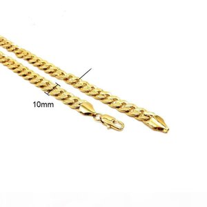K Men &#039 ;S Necklace 18 K Yellow Gold Filled Charms Link 24 &Quot ;Chain Fashion Jewelry