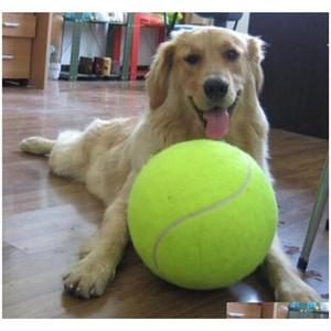 24cm big tennis ball for pet chew toy big inflatable tennis ball signature mega jumbo pet toy ball supplies outdoor cricket c430 6hNI4