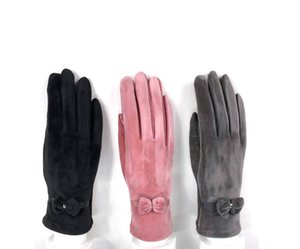 Winter Leather Gloves Mink Fur Sheepskin Touch Screen Gloves Autumn and winter Women's Fingerless Gloves Keep Warm Glove