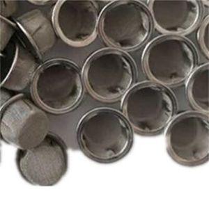 Tubería de humo Tapa de filtro de hollín Tapa de acero inoxidable y material de latón 16 mm Pantalla de filtros sin fisuras Hemming 0 7SW N2