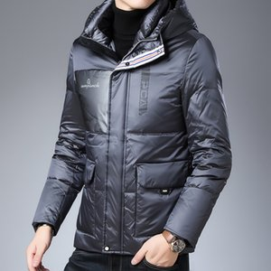 Men's 90% Garment White Duck Hooded Outdoor Wind Coat Cold-proof, Handsome and Warm Down Men Winter Puffer Jacket Y1120