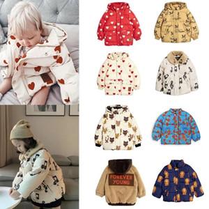Новые мини-дети зимняя одежда мальчики одежда вниз куртки толстовки теплые детские девушки меховые пальто из хлопчатобумажных верхов