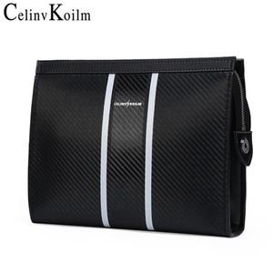 Celinv Koilm мужской клатч мешок для сцепления кожа большие размеры сумочка мужская длинная кошелек бренд карты держатель мужчин бизнес сцепления кошельки новый C1116