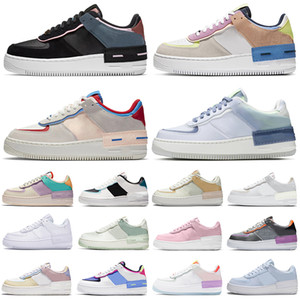 af1 force 1 Shadow forces one shoes sapatos plataforma masculinos moda feminino triplo branco preto Tropical Twist Spruce Aura Hyper Crimson skate tênis masculino tênis esportivo